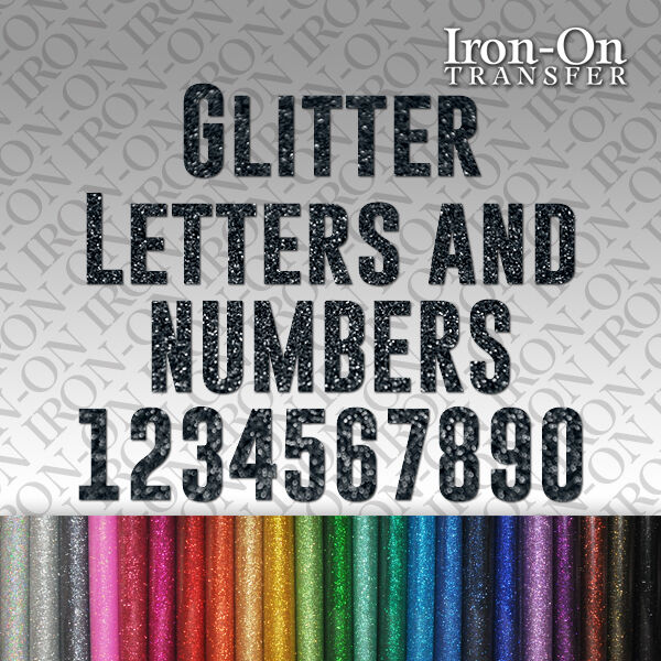 iron on letters and numbers glitter letters numbers iron on hotfix fabric t shirt 22594 | s l1000