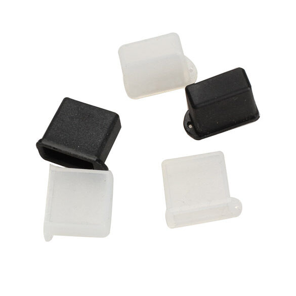5pcs Silicone Usb Type A Male Anti Dust Plug Stopper Cap