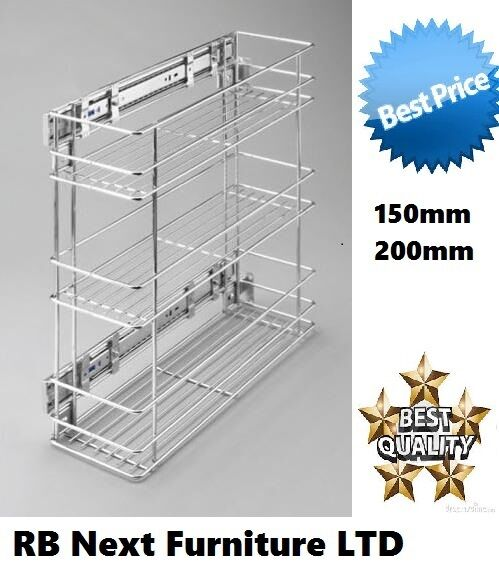 Soft Close Pull Out Kitchen Storage Pantry Unit Mesh Wire