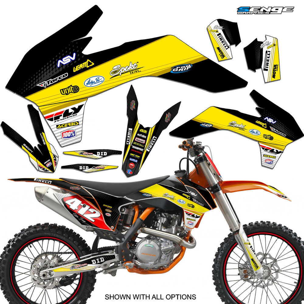 2003 ktm exc 200 250 300 450 525 graphics kit deco decals stickers senge moto ebay