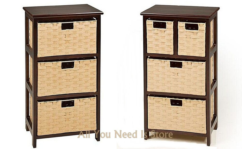 Bathroom Storage Units With Baskets Hartleys Large White 4 Basket Chest Home Storage Unit