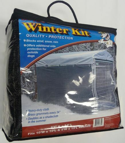 Windscreen shade kit for a large dog kennel outdoor for Outdoor dog kennel kits