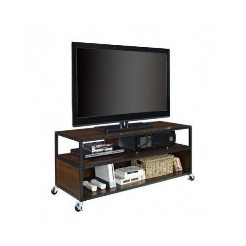 Mobile Tv Stand Entertainment Media Screen Console Metal