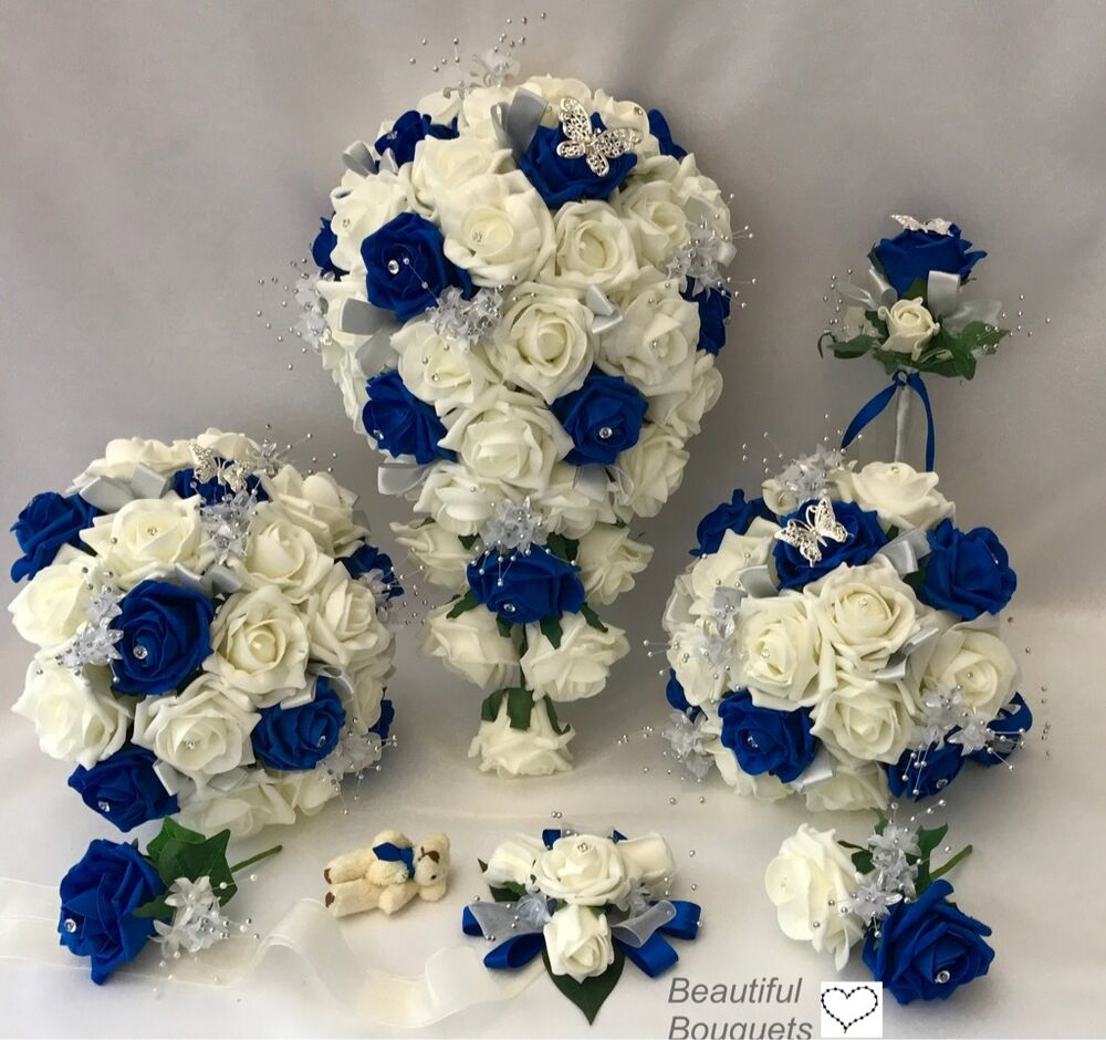 blue flowers wedding bouquet wedding flowers ivory bouquet 1934