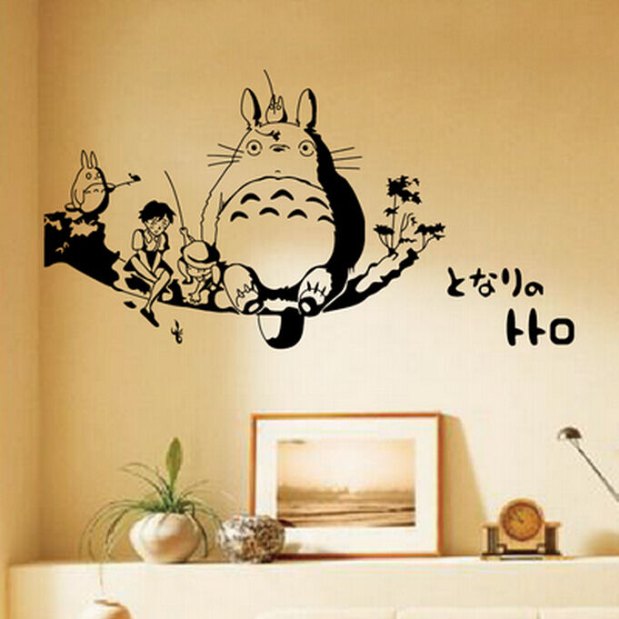 Anime my neighbor totoro wall stickers waterproof bedroom - Dibujos pintados en la pared ...