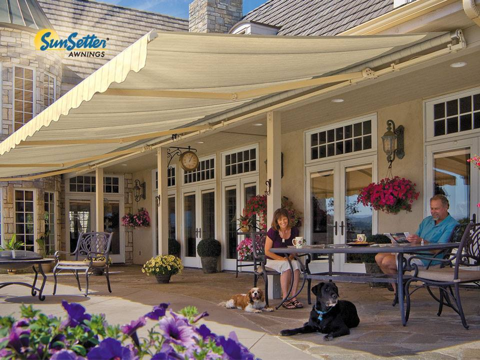 20' SunSetter Motorized Awning with Acrylic Fabric by ...