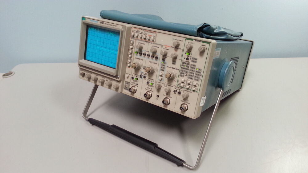 Tektronix Analog Oscilloscope : Tektronix oscilloscope mhz channel analog