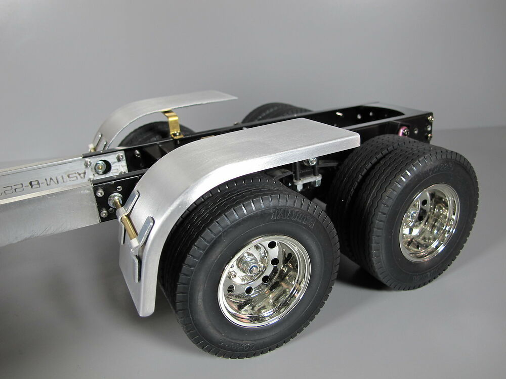 Aluminum Truck Fenders : Aluminum half wheel fenders set tamiya rc knight