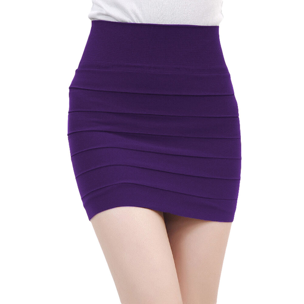 s pencil skirt stretch simple mini high waisted