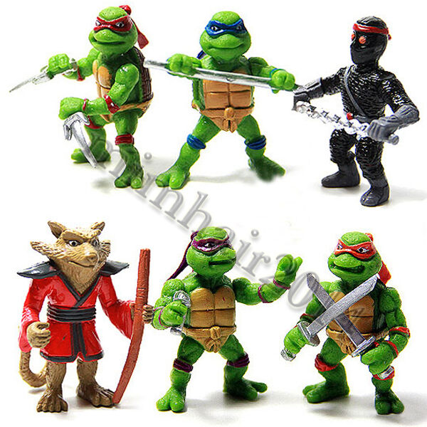 Mini Ninja Toys : Pcs teenage mutant ninja turtles tmnt action figures