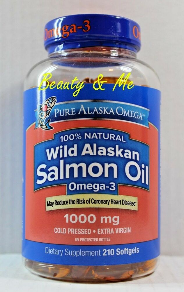 Pure alaska omega 3 wild alaskan salmon oil 1000mg 180 for Fish omega 3