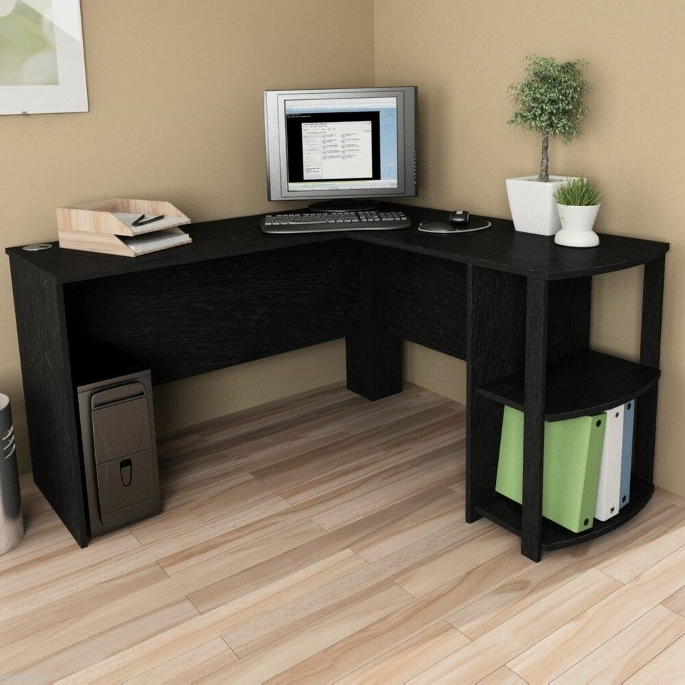 L shaped corner desk computer workstation home office for Home office workstation desk