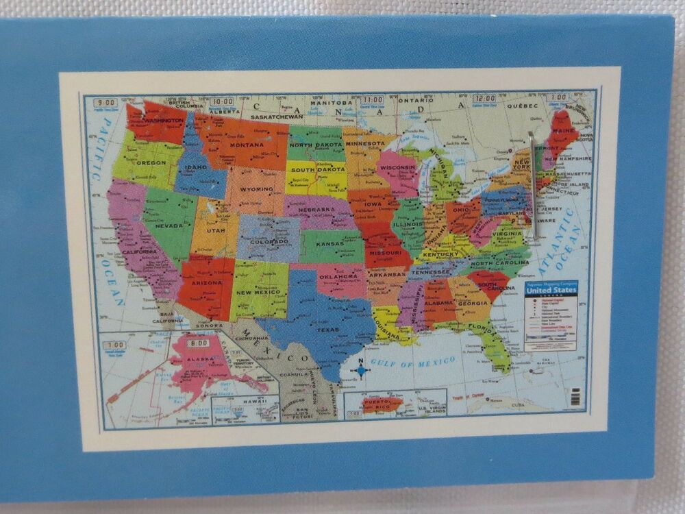 Usa united states wall map poster 40 x28 craft decoupage for Craft schools in usa