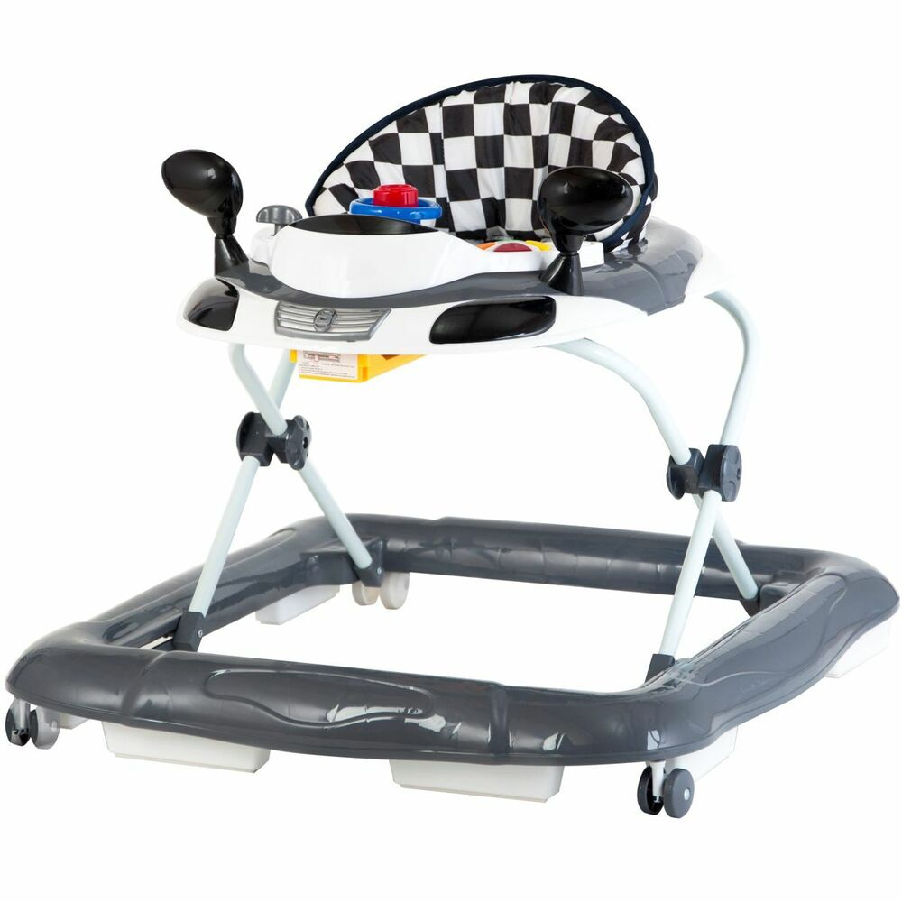 lauflernhilfe racer gehfrei gehhilfe laufhilfe kind baby walker schwarz rot ebay. Black Bedroom Furniture Sets. Home Design Ideas