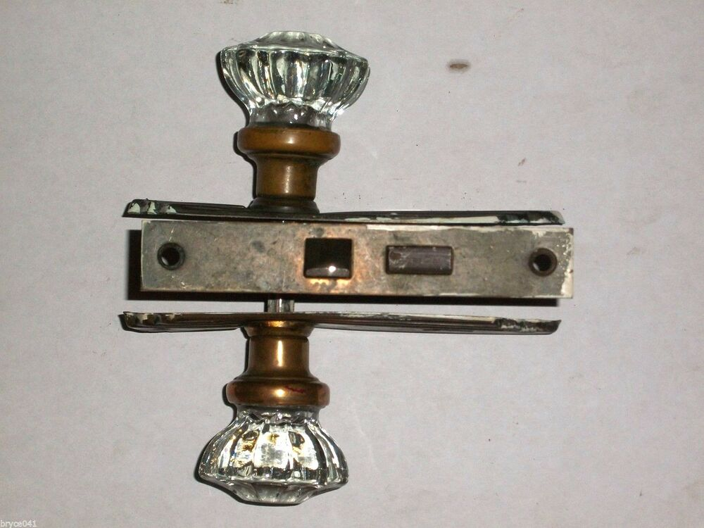 Antique Art Nouveau Mortise Lock With Plates And Knobs Ebay