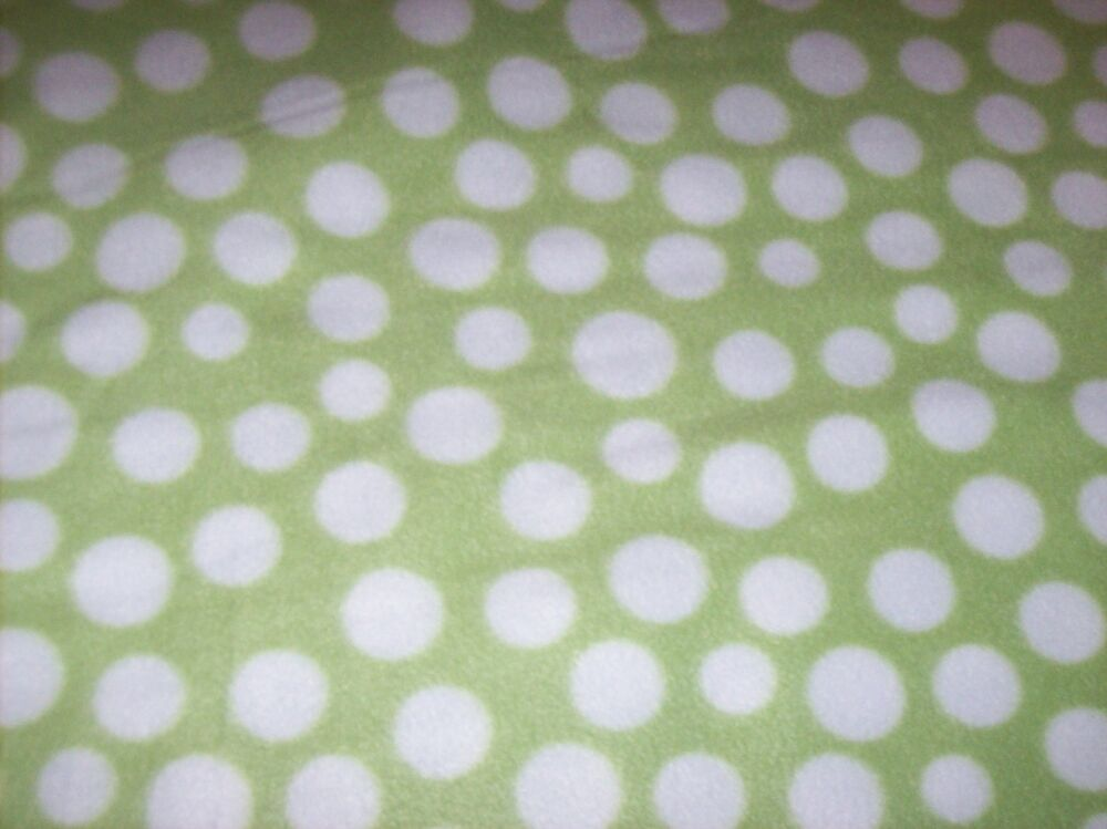 Lime Green White Polka Dots Fleece Personalized Blanket