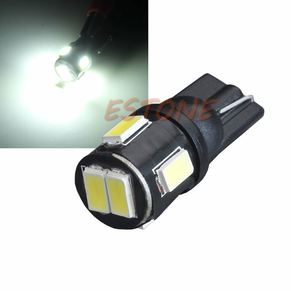t10 6 led 194 168 w5w 5630 smd bright 12v wedge car. Black Bedroom Furniture Sets. Home Design Ideas