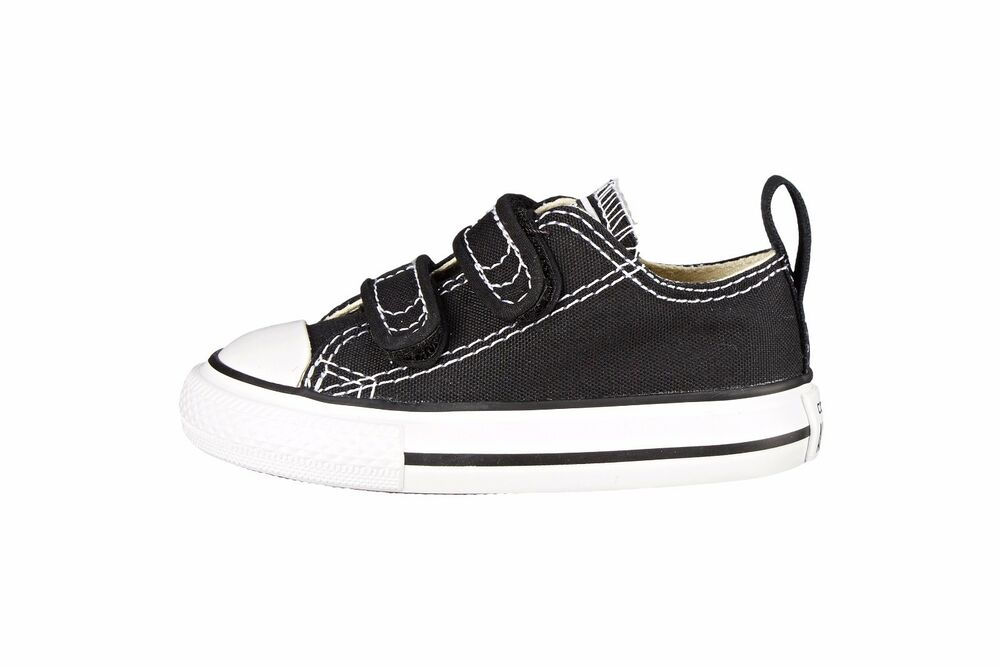 f6a97eafb037 Details about Converse Shoes All Star Chuck Taylor Black 2 Strap Infant  Baby Sneakers Girl Boy
