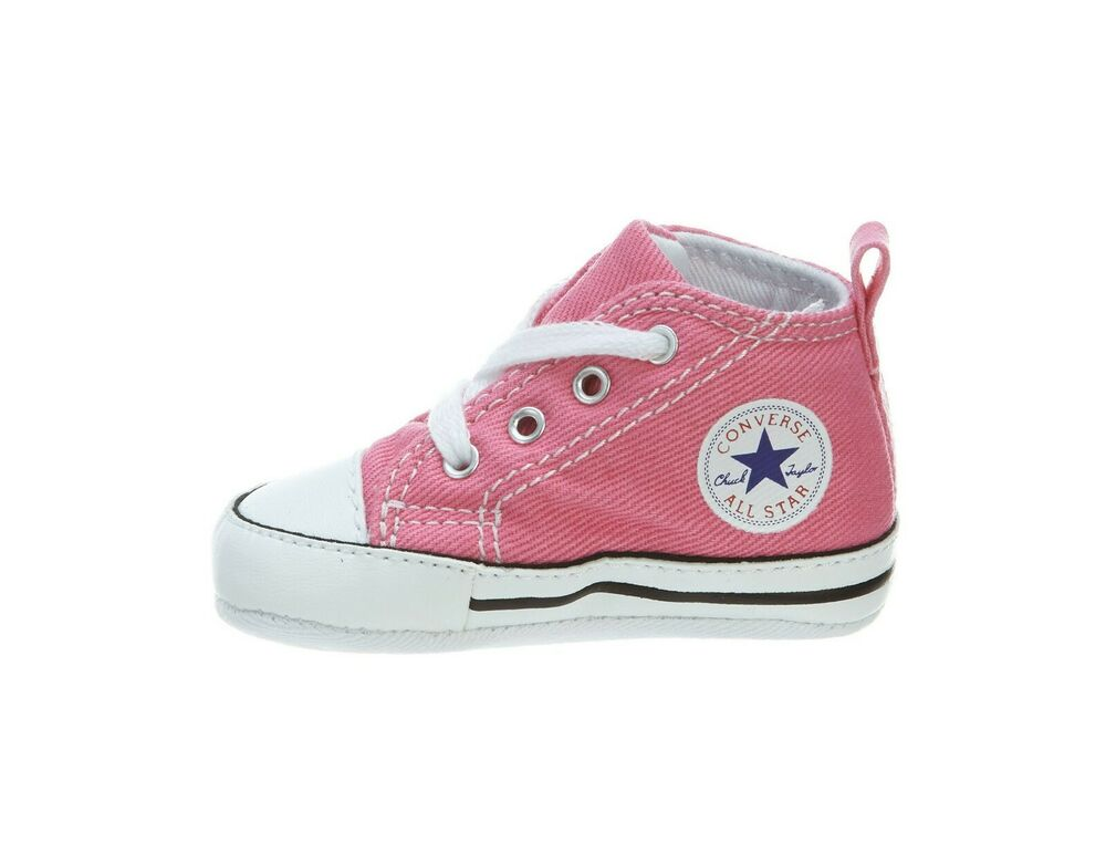 b1ca3af7ed7bde Details about CONVERSE New Born Crib Pink My First Star Baby Booties Soft  Bottom Shoe Size 1
