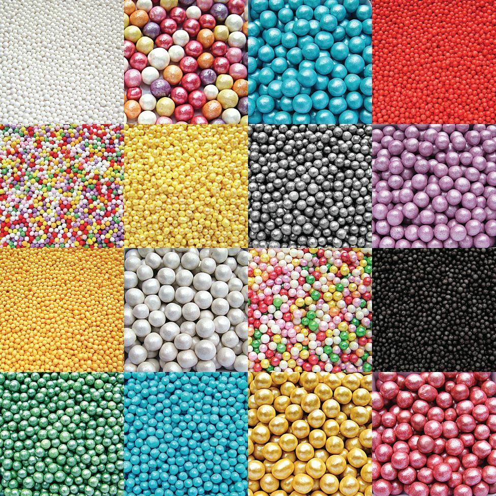 Cake Decoration Sprinkles : Edible Cupcake Cake Sprinkles Sugar Pearls and Decorations - various colours eBay