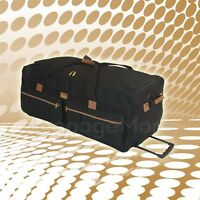 "36"" Rolling Duffel Bag Wheeled Luggage Suitcase Travel Tote Duffle Bag Free Ship"