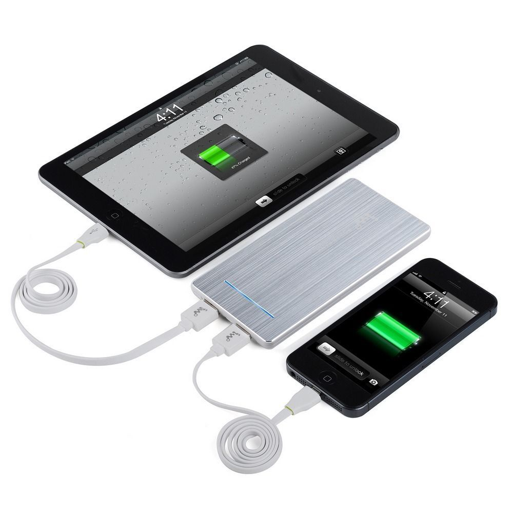 portable iphone 5 charger aluminum 5600mah portable usb power bank charger for 3763