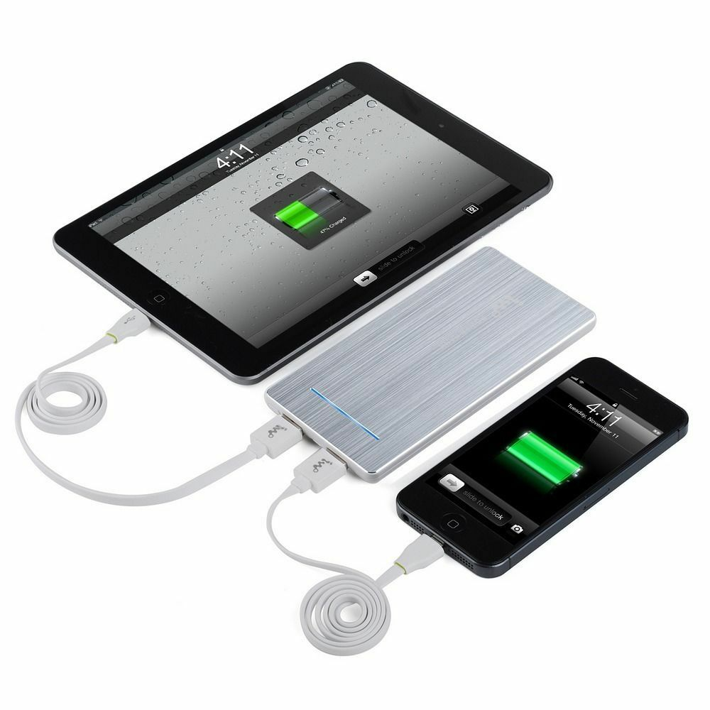 iphone portable charger aluminum 5600mah portable usb power bank charger for 12147