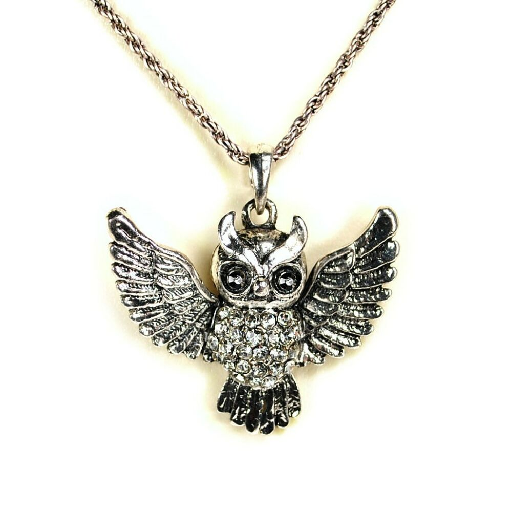 Sparkling Owl Necklace Rhinestone Bird Crystal Pendant New. Chunky Stud Earrings. Light Weight Chains. Opel Gemstone. Valentines Day Necklace. Diy Leather Earrings. Pink Diamond Engagement Rings. Silver Earrings. Pride Wedding Rings