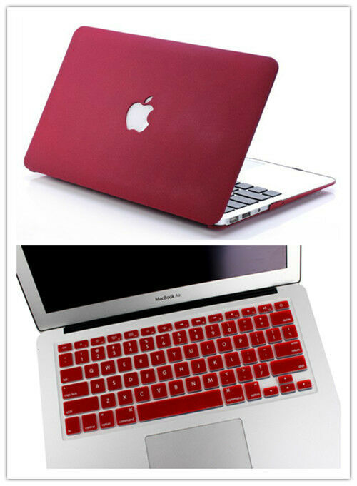 2in1wine red rubberized hard case laptop cover for apple. Black Bedroom Furniture Sets. Home Design Ideas