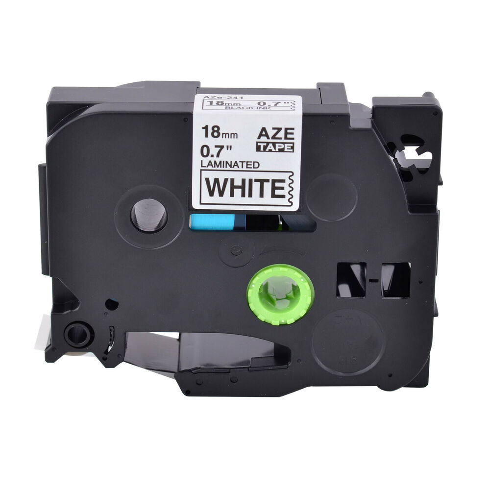 black on white label tape compatible for brother p touch pt 2730 tz tze 241 0 7 ebay. Black Bedroom Furniture Sets. Home Design Ideas