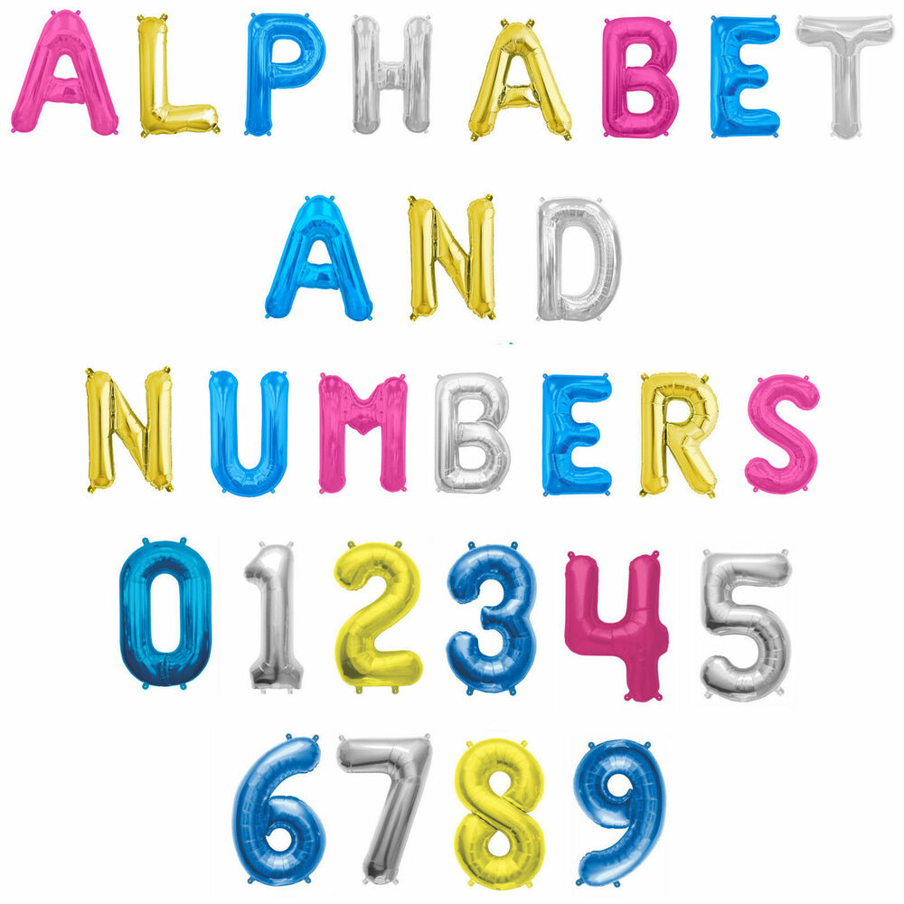 16 Inch 41cm Foil A Z Letter Balloon Air Fill Any Age 1