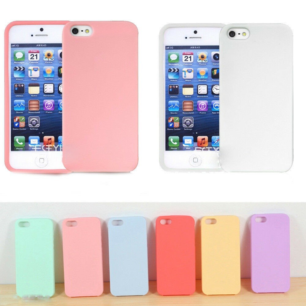 iphone 5s cover slim soft tpu silicone rubber back cover 11182