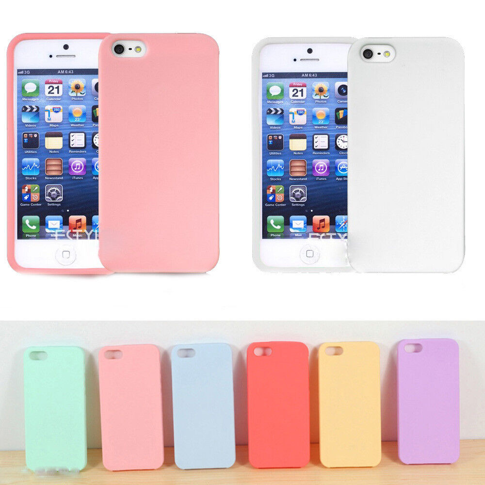 iphone 5s case slim soft tpu silicone rubber back cover 1074