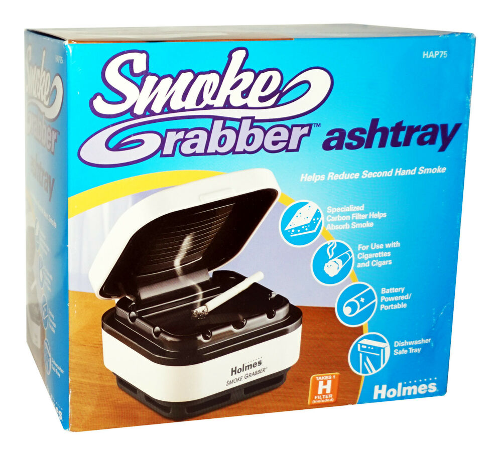 New Holmes Smoke Grabber Ashtray Carbon Filter Helps