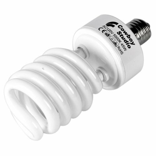 Cowboystudio 45w Compact Fluorescent Cfl Daylight Balanced Bulb With 5500k Color Ebay