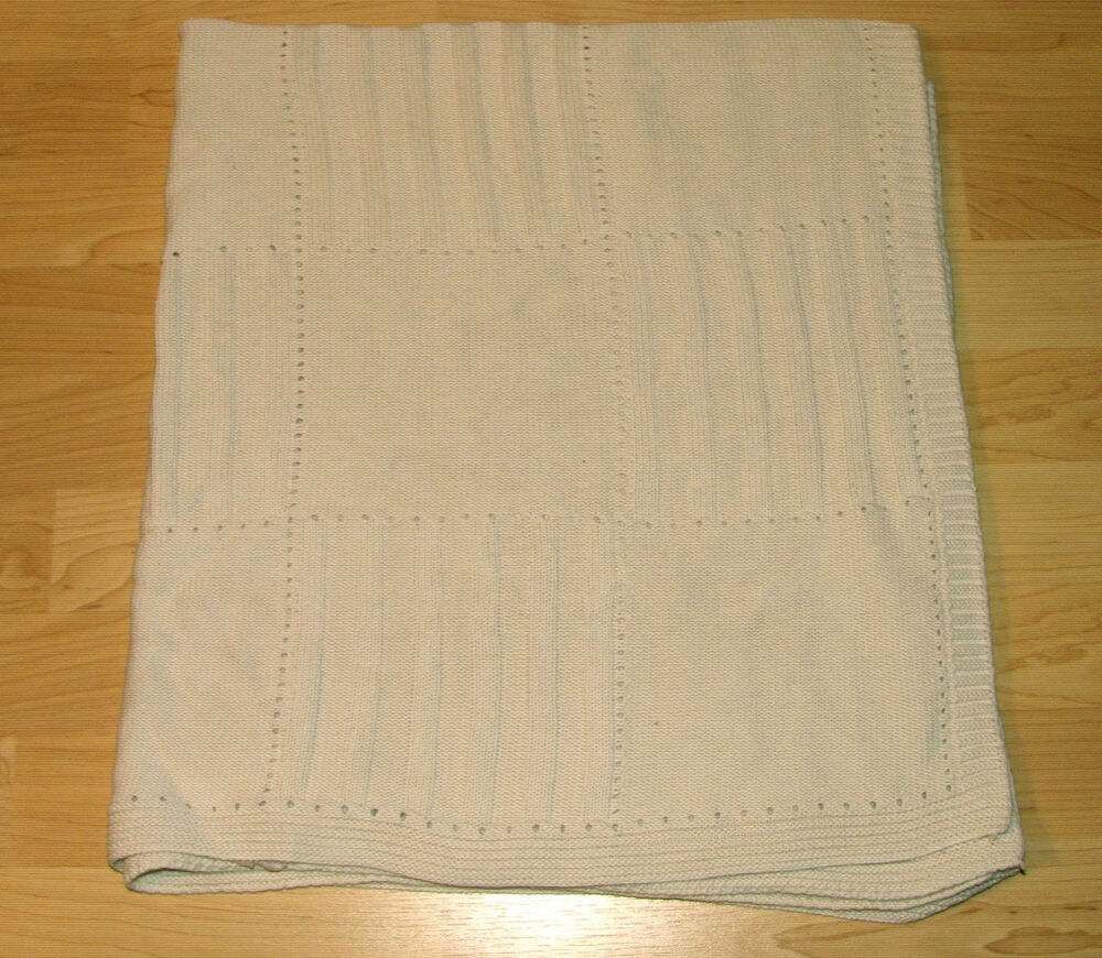 36x40 Tl Care Organic Cotton Baby Blanket Cable Knit Ivory