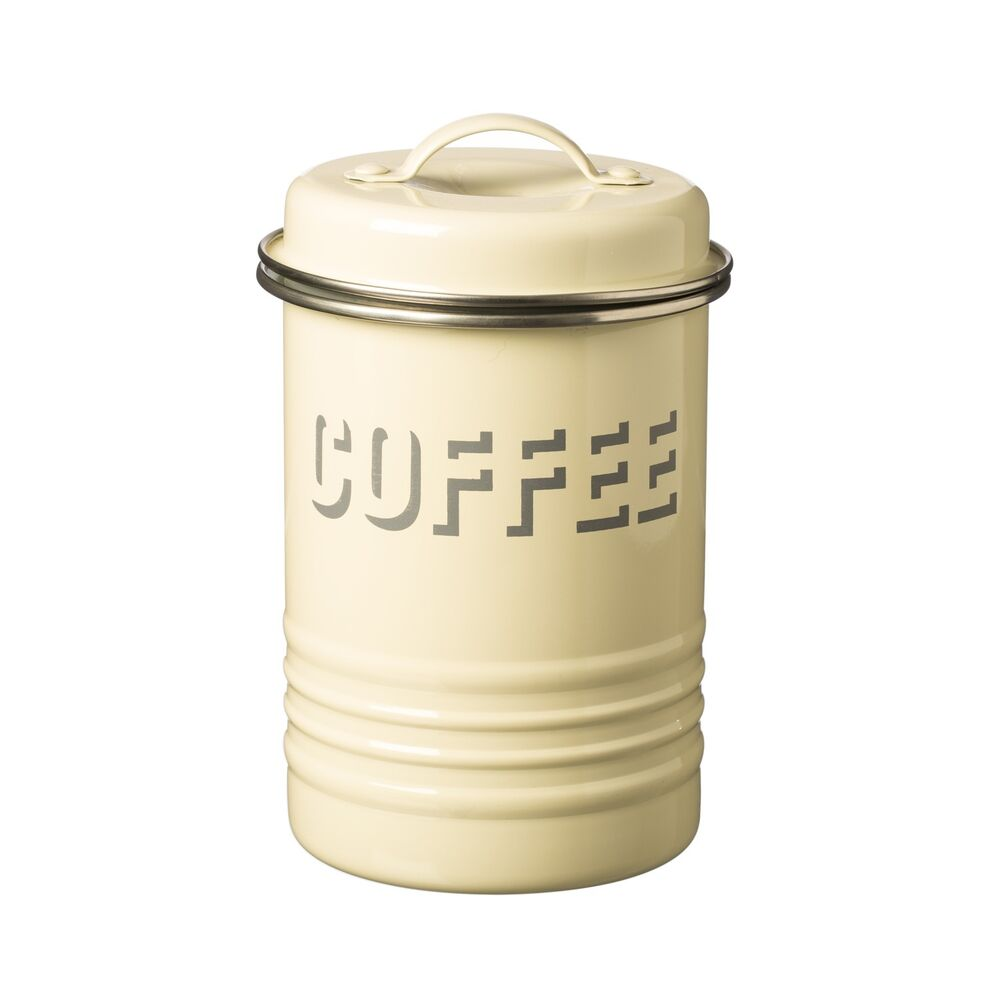 cream kitchen canisters typhoon vintage kitchen coffee canister 11253