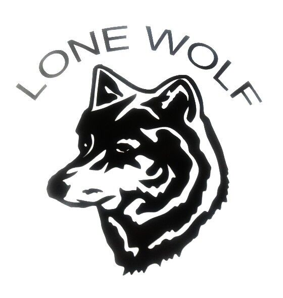 Lone Wolf Decal Window Sticker Car Rv Hunting Outdoor