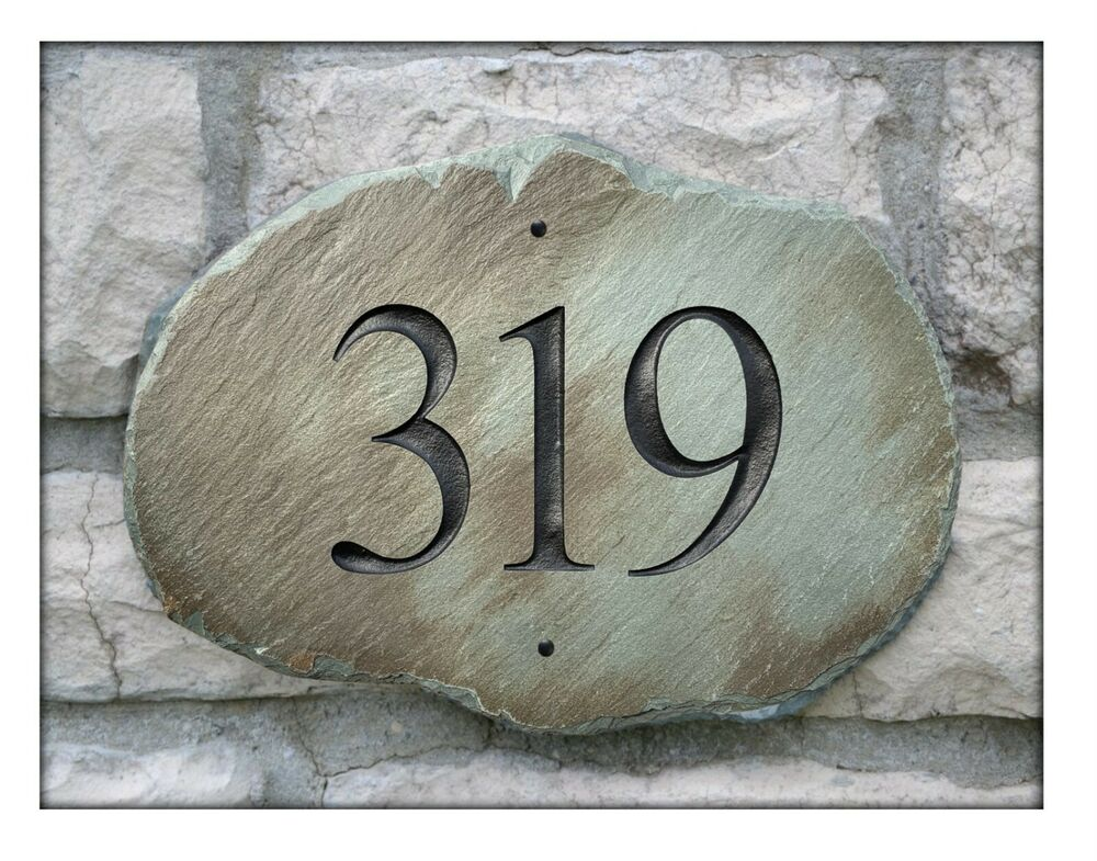 Stone Address Plaque House Marker Sign Home Number Eco