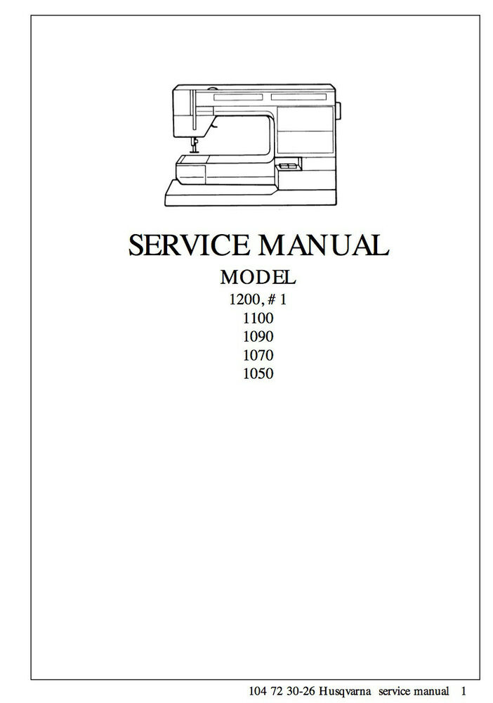 Husqvarna Viking  1    1200 Service Repair Manual  U0026 Parts List   Cd Or Dwnld