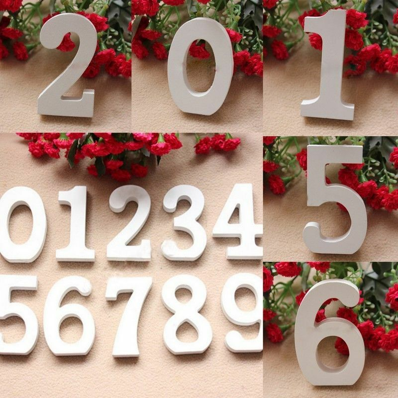 Freestanding wood wooden numbers heart bridal wedding for Heart decorations for the home