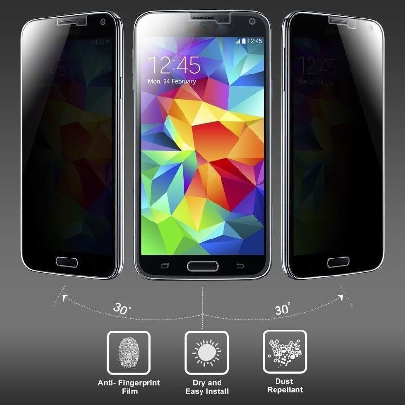 Anti Privacy Tempered Glass Cover For Samsung Galaxy S5 S4 S3 Note 3 ...
