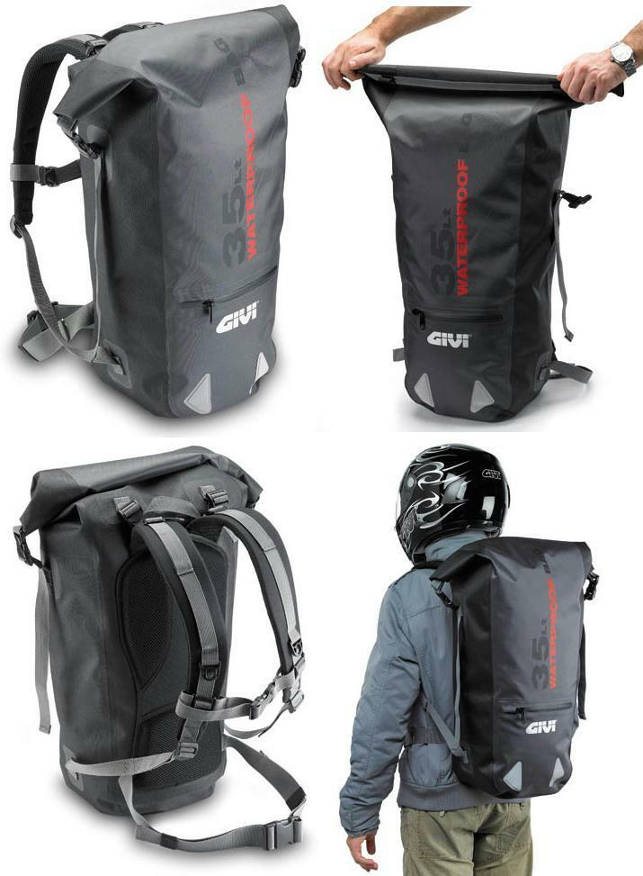 givi motorcycle backpack wp403 waterproof 35 litre ebay. Black Bedroom Furniture Sets. Home Design Ideas