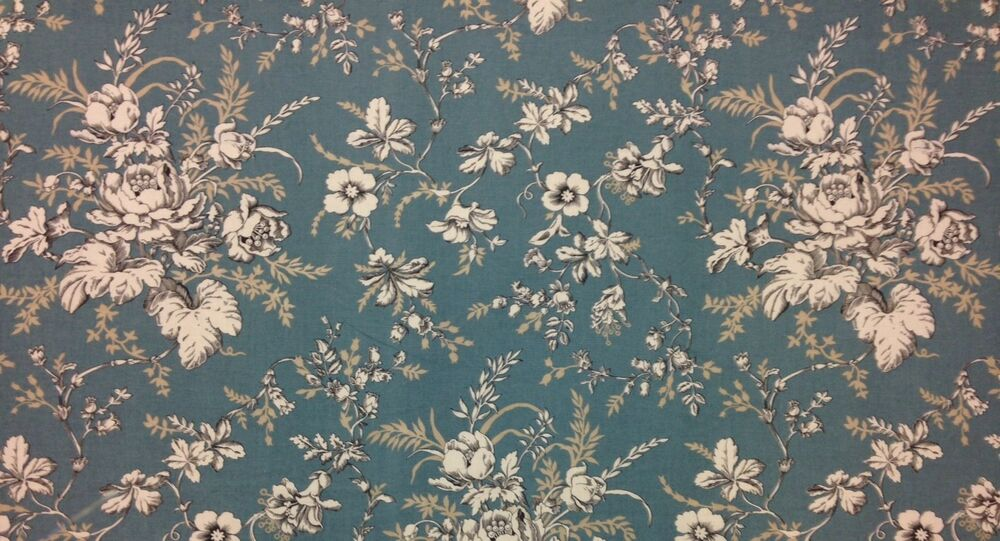 golding kingsport haze blue floral toile multiuse fabric by the yard 54 w ebay. Black Bedroom Furniture Sets. Home Design Ideas