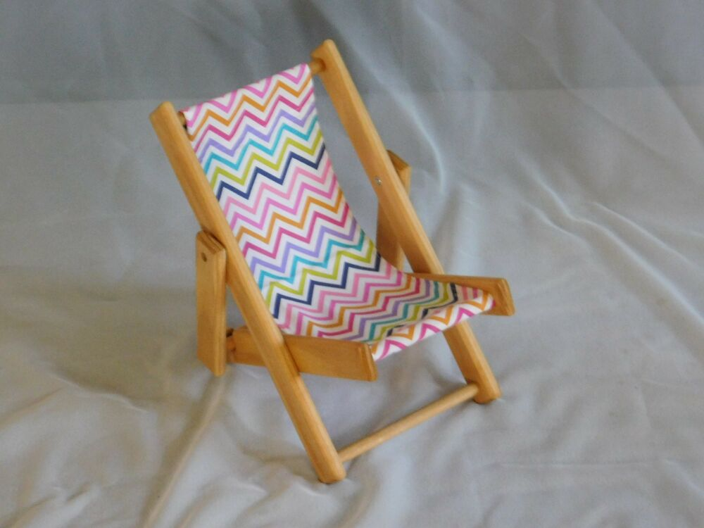 Wooden lawn chair for 18 inch dolls like american girl for Garden tools for 18 inch doll