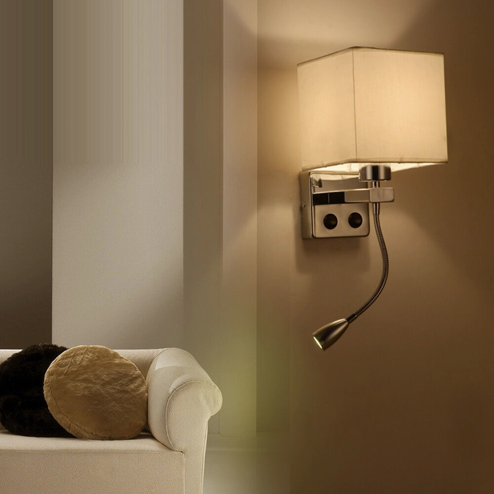Bedside Wall Lamp With Led : New Single-head Light Bedroom Study Wall Light LED Bedside Lamp Sconce Lighting eBay