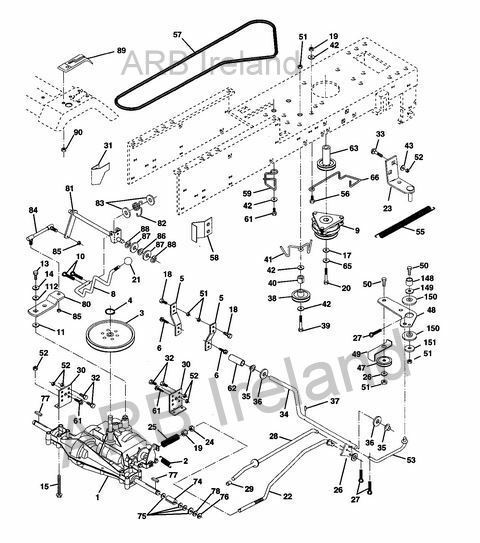 Mower Lift Diagram And Parts List For Rally Ridingmowertractorparts
