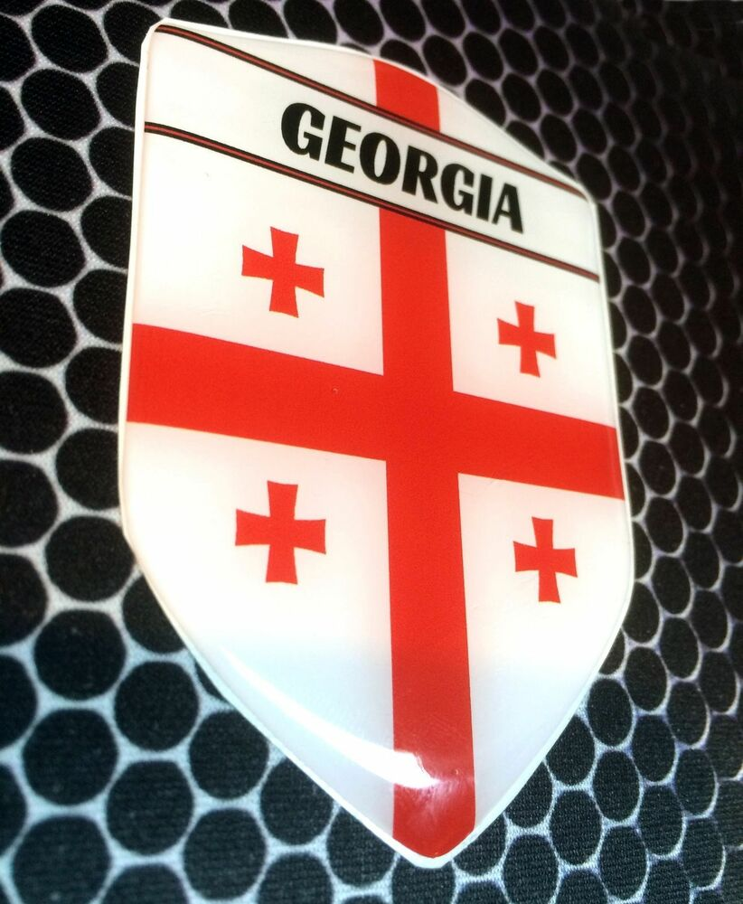 Georgia Tbilisi Proud Shield Flag Domed Decal Emblem Car