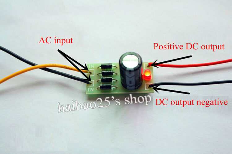 AC DC Converter 6 12 24V To 12V Full Bridge Rectifier
