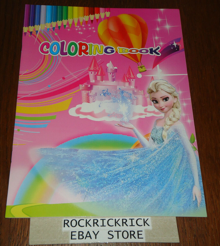 FROZEN 16 PAGE COLORING BOOK 2 PAGES OF STICKERS BRAND